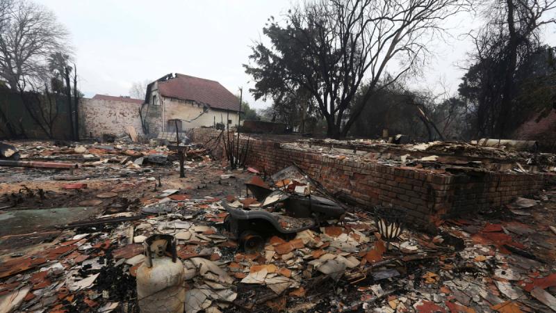 Zniszczenia po pożarze w RPA