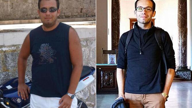 Zaczął się odchudzać, gdy koszula XXL zrobiła się za mała. Schudł 37 kg