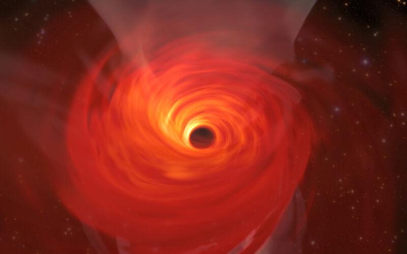 Symulacja supermasywnej czarnej dziury (Jordy Davelaar et al./Radboud University/BlackHoleCam)