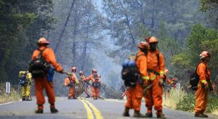 Pożar szaleje w Kalifornii w USA (PAP/EPA)