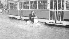 Powodzie sprzed lat. Na zdjęciu: Warszawa 1968